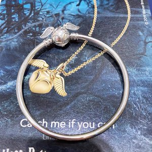 2019 New Harry Style 925 Sterling Silver Moments Golden Snitch Clasp Bangle for Women Bead Bracelet charms DIY Fashion Jewelry