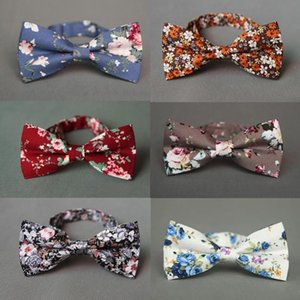 Mantieqingway New Fashion Brand Tie Bowties Casual Cotton Printed Bow Tie Blue Necktie for Wedding Party Tuxedo Skinny Cravat