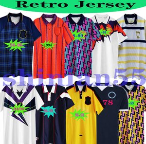 1982 Üst İskoçya Retro Dalglish Futbol Forması Dünya Kupası Ekipmanları Eve 86 88 Klasik Vintage İskoçya Mcstay Retro Futbol Gömlek