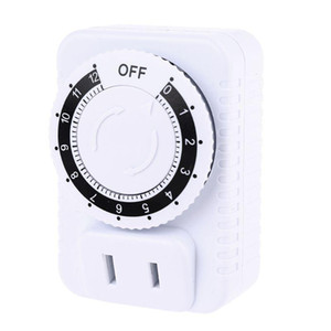 AC 110V 12 Hour Mechanical Plug Switch Timer Socket for Home Appliances Control U4LB