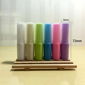 White Beige Green Blue Pink Purple Empty 3ml Plastic Homemade Lip Balm Handmade Lipstick Bottle 50pcs lot Free Shipping