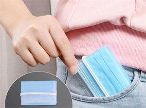 Home Gesichtsmaske Aufbewahrungsmaske Clip Container Fall Faltbare Einweg-Staubmaske Aufbewahrungsbox Staubdicht FR