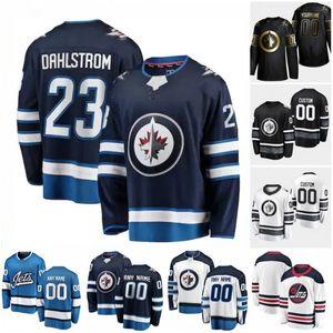 Özel Winnipeg Jets Bogdan Kiselevich Carl Dahlstrom Cody Eakin David Gustafsson Dmitry Kulikov 2020 Hokeyi Formalar Kadınlar Dikişli