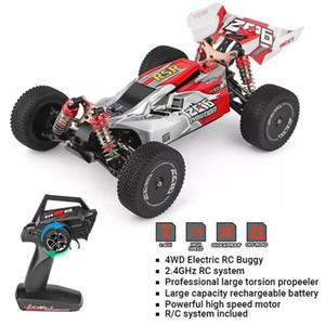 HiPac Wltoys 144001 1/14 60 km / h RC Racing Car Metallo Telaio Telecomando Auto 2,4 GHz 4WD Electric RC Formula Cars 20mins 20121818