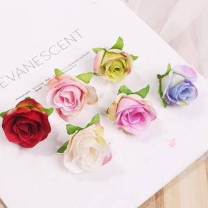 Flores de seda artificial rosa cabeça diy flor bola festival casa decoração de casamento acessórios fábula falsificada gwd2702