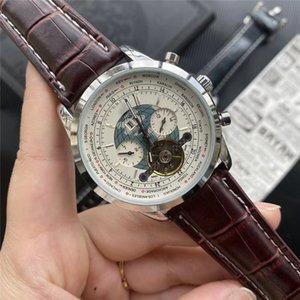 Лучшего качество Бизнеса Мужчины Часы Часы де Hombre автоматических механические часы мужской Кожа конструктора Люди наручных часов мода платья Лучшего Gif