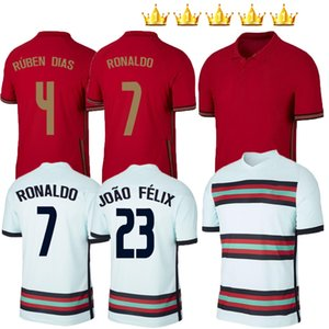 2020 2021 RONALDO Fußball-Trikot JOAO FELIX NEVES PO BERNARDO rtugal Cancelo RUBEN NEVES Trikots Kinder Kits weg weiß 20 21 Fußballhemd
