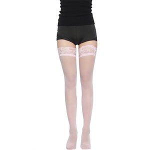 Sexy Long Stockings Womens Lace Silicon Strap Anti-skid Thigh High Over Knee Socks Nightclubs Hosiery Medias De Mujer