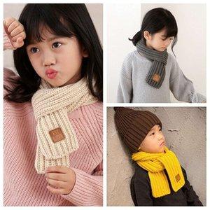 Детская осень и зимний вязаный шарф
