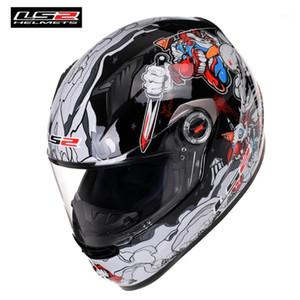 LS2 FF358 Klasik Tam Yüz Motosiklet Kask Yarışı Casque Casco Capacete Moto Kaskları Motor Bike için Helm Caschi1