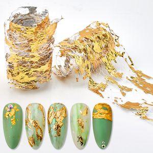 4 * 50 cm de aluminio Pegatinas de uñas de malla 3D Glitter Line Nail Art Decal Wraps Slider Manicure DIY Decoración