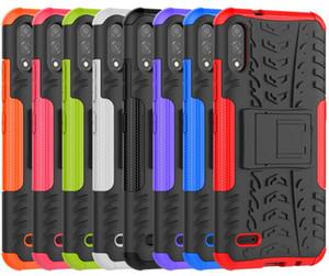 Armadura Heavy Duty Case Hard para Samsung A50 A10E Moto E6 Case Phone + Cinto Clipe Holster Kickstand TPU + PC à prova de choque Oppag 200pcs pelo menos