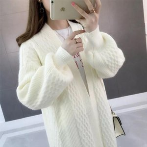 Autumn Ladies Cardigan 2021 Women Loose Knitting Sweater Long Knit Cardigan Plus Size Female Leisure Cashmere Sweaters Coat