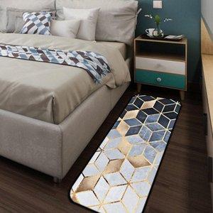 Mosaic Gold Carpet Coral Fleece Soft Bathroom Bedroom Door Porch Kitchen Window Leisure Household Livingroom Tapete g5Tk#