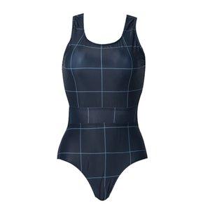 المرأة الكبيرة المحافظة تحقق بيكيني بدلة مريحة قطعة واحدة المايوه جديد تصفح دعوى الغوص دعوى قطعة واحدة ملابس السباحة