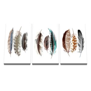 Collect Feathers Art Canvas Painting Posters and Prints Living Room Decorative Wall Art Pictures