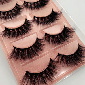 high quality 1box eylashes mink false lashes fluffy 5pairs lashes mink eyelashes natrual makeup 3d maquiagem drop shipping
