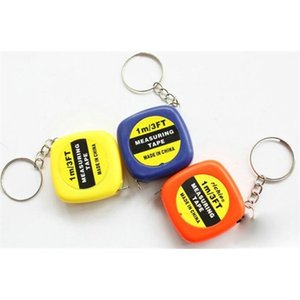 150pcs Small tape measure 1 meter portable mini soft ruler keychain pendant small gifts gift metric inch