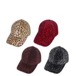 Casilla de béisbol de cola de caballo Otoño e invierno Calle salvaje Hip Hop Hop Leopard Sombrilla de sombrero al aire libre sombrero de fiesta W-00409