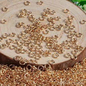 1000 pz / lotto 6mm * 0.8mm anelli di salto aperti anelli collegamenti per gioielli fai da te creazione di connettori braccialetto collana orecchini orecchini gioielli fai da te trovano parti