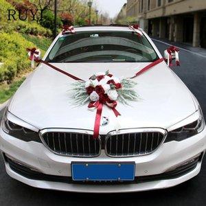 Artificial Rose flower lavender Mix Wedding Car Decorative Flower Wedding Wreaths Valentine's Day Wreath DIY Party Supplies