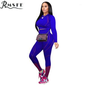 RMSFE 2020 Frauen Vital Nahtlose Set Gym Kleidung Fitness Gestreiften Sportanzug Frauen Langarm Zwei Stücke Set1