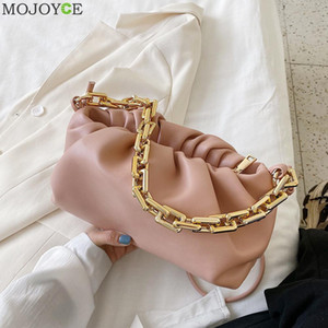 Femmes élégantes chaîne Sac Nuage bandoulière en cuir Sacs à main Femme d'embrayage bourse pour extérieur Voyager Décoration c1009 shopping