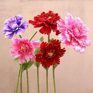 Artificial Giant Peony Flower Head Flower Wall Wedding Road Background Props Photo Studio Peony Silk For Home Decoration