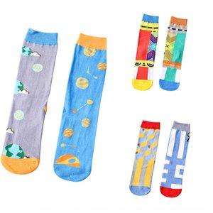 Los hijos de en rkiz de la ins Calcetines tubo de la manera de otoño e invierno medias par Street skate deportes de los hombres de la personalidad par calcetines