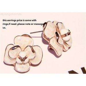 flowers white shell rings earrings camellia ring