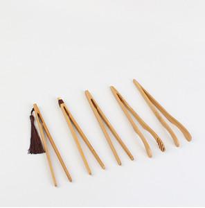 Clip de té de bambú natural Hecho a mano Tea Tweeer China Kongfu Herramientas de té Multifunción Bacon Ensalada Azúcar Alimentos Tostadas GWA3298
