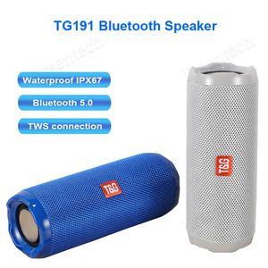 TG191 Bluetooth Haut-parleur étanche IPX5 Haut-parleur sans fil pour téléphone PC ordinateur extérieur Colonne Bluetooth 5.0 TWS Music Center
