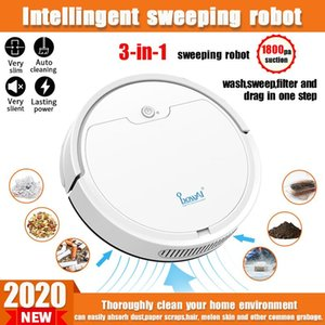 2021 New Multifunctional Robot Vacuum Cleaner Smart App Remote Control Sweeping Robot 2000Pa Wireless Dry Wet Auto Cleaner Home