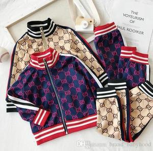 2021 Kids Designer Ropa sets Nuevos chándales de impresión de lujo Jackets de la carta de la moda + Joggers Casual Sports Style Sweatshirt Boys Girls A02