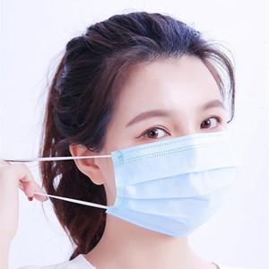 Ağız Tek Siyah Yüz Maskeleri Anti-toz 3 Filtre Aktif Karbon Koruyucu Maske Dokumasız Packaging Factory Outlet Perakende