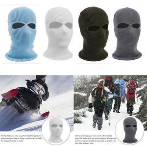 Winter Thermal 2 Hole Ski Mask Hood Cover Windproof Ski Full Face Mask US1