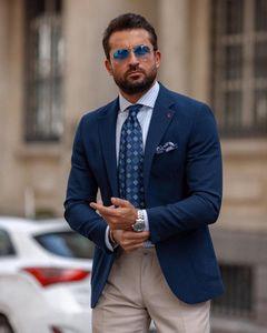 Customized 2020 New Arrival Men Suits Slim Fit Peaked Lapel Wedding Suits For Men Designer Groom Tuxedos Blazer
