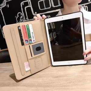 For 2020 ipad 12.9 High-grade Tablet Case for 2020 ipad pro 11 Air10.5 mini123 mini45 ipad10.2 Fashion Classic Leather Card Holder ipad Case