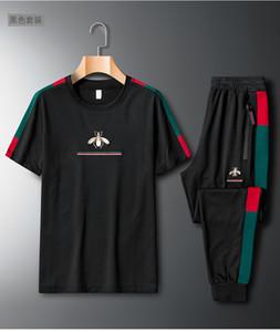 2021SS Sommer Heißer Verkauf Heißer Anzug Herren Casual Kurzarm Sweater Rundhals Jugend Mode Zwei Stück Set