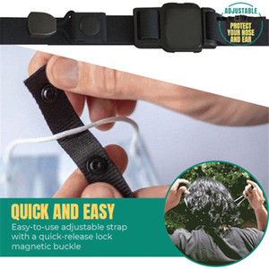 Adjustable Elasticity Strap Magnetic Button Non Slip Mask Rope Prevent Ear Pulling Multi-function Mask Extension Hook Sea Shipping DDA622