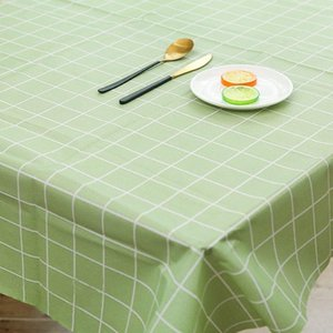 Brief Plaid Waterproof Tablecloth PVEA Plastic Soft Glass Thin Table Cloth Kitchen Rectangle Dinning Table Cover Mat