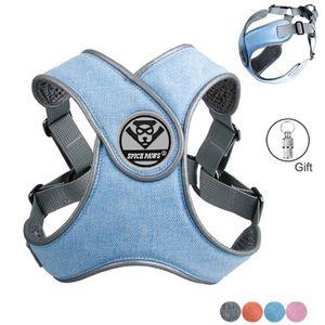 MySudui Светоотражающего Small Dog Harness и поводок Набор Pet Щенки Cat Vest Harness Собака Мягкая дышащая сетка Оптовая Чихуахуа