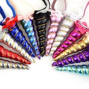 Regalo de Pascua del bebé Pelos del aro de la venda del cordón originalidad Unicorn Head Girl Holiday Party Supplies pelo de la venda 13 5BJ C R