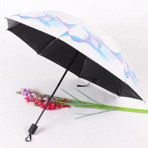 Yada 2020 In neuen Art und Weise Blumen-Regenschirm Sonnenschirm Rainy Drei Folding Regenschirme für Frauen-Mann Uv Windsicher Regenschirme Yd200028 bbydWr