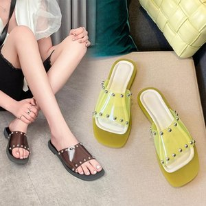 Summer Shoes Sandals For Women Rivet fruit sandals Flat Beach Slippers Women High Quality Ladies Designer Luxury Sandalias X2