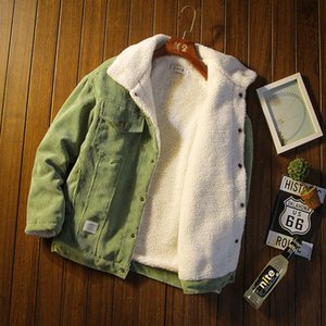 2020 Autumn and Winter Men's Thick Warm Corduroy Jacket Men's Jacket Hip-hop Jacket Men's Casual Cotton Clothes Plus Size 5XL X1217