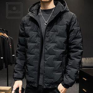 Homens inverno algodão acolchoado jaqueta dos homens juventude estilo curto na moda jaqueta acolchoada considerável inverno espesso baixo casacos