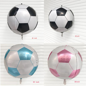 1PC 22inch 4D stereoscopic Football balloon Helium Foil Balloons happy birthday party decorations kids toy Supplies globos