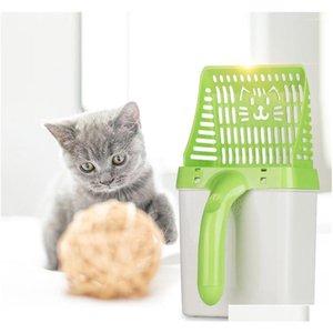 Utile Cat Stepel Pelle Nettoyage de Pet Nettoyage Plastique Scoop Cat Sand Nettoyage Produits Toilette Pour Dog Food S QYLCKZ HOMES2011