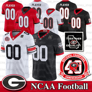 Georgia personalizzata Bulldogs Jersey Jake Fromm D'Andre Swift George Pickens Stetson Bennett Dominick Blaylock Mark Webb NCAA Zucchero Patch